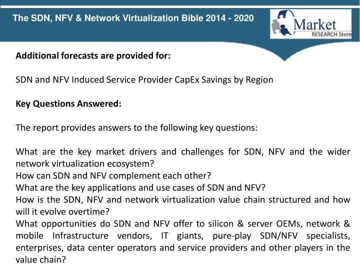 The SDN, NFV & Network Virtualization Bible 2014 - 2020