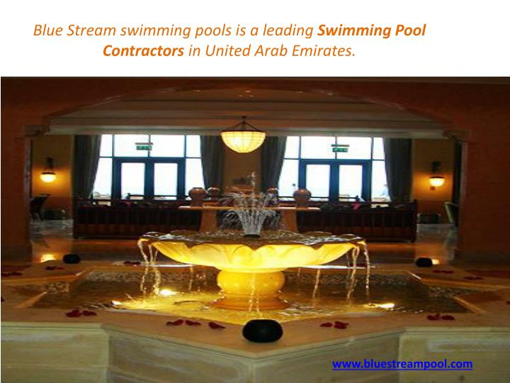Blue Stream swimming pools is a leading