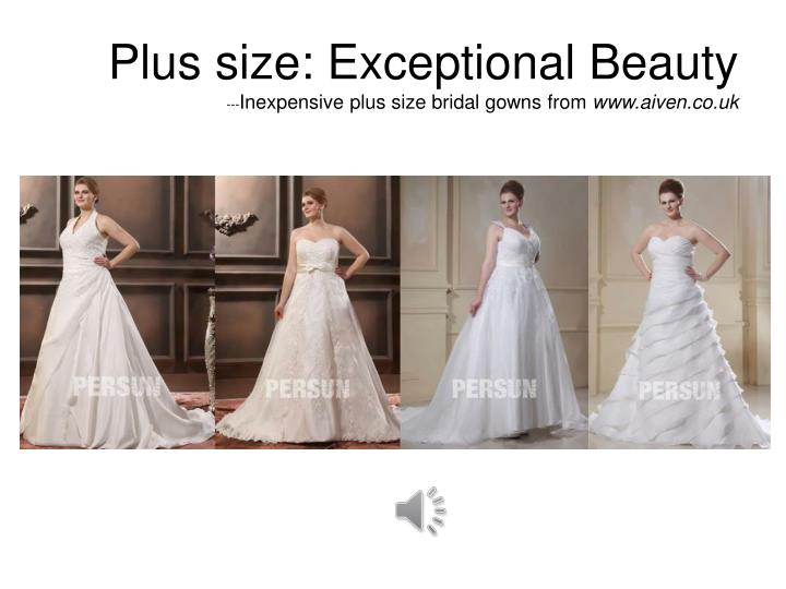Plus size exceptional beauty inexpensive plus size bridal gowns from www aiven co uk