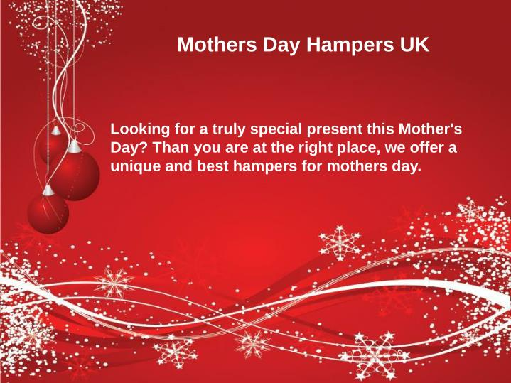 Mothers Day Hampers UK