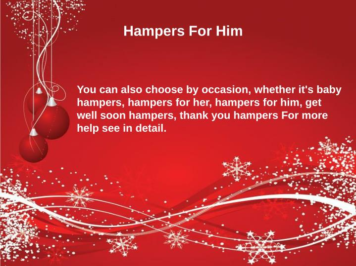 Hampers For Him