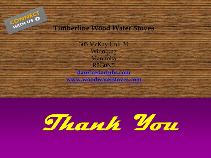 Timberline Wood Water Stoves