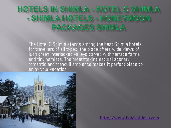 Hotels in shimla hotel c shimla shimla hotels honeymoon packages shimla