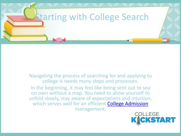 Starting with College Search