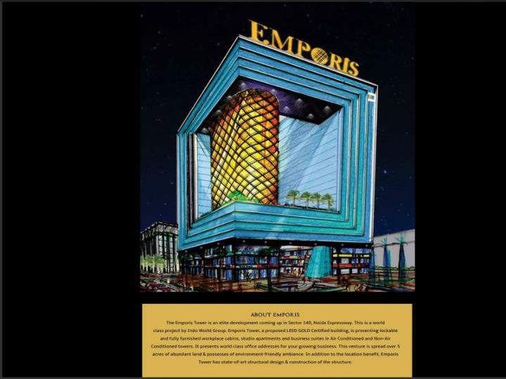 Emporis tower in sector 140 noida expressway call 955513