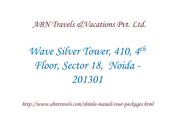 ABN Travels &Vacations Pvt. Ltd.