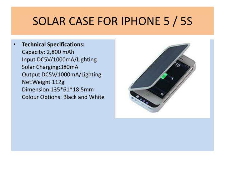 Solar case for iphone 5 5s