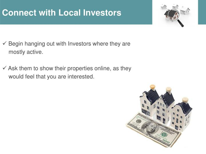 Connect with Local Investors