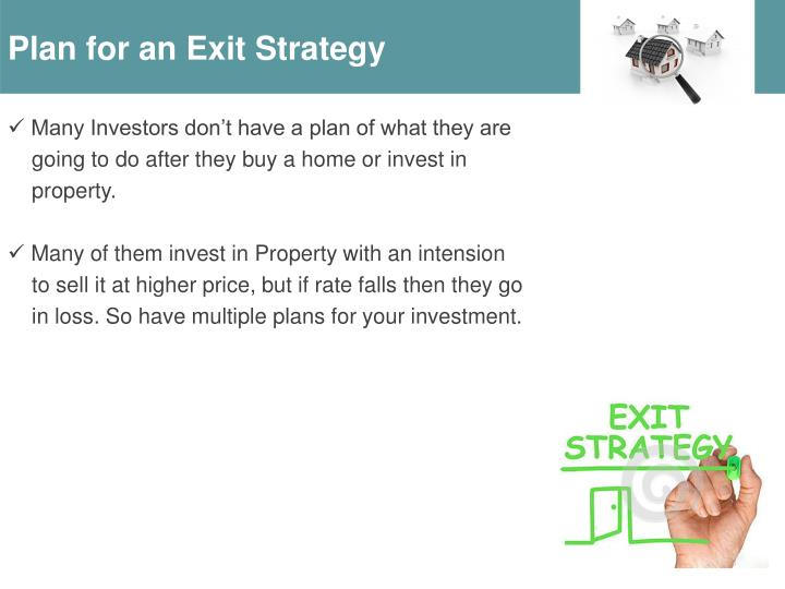 Plan for an Exit Strategy