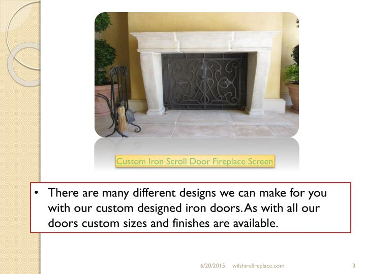 There are many different designs we can make for you with our custom designed iron doors. As with al...