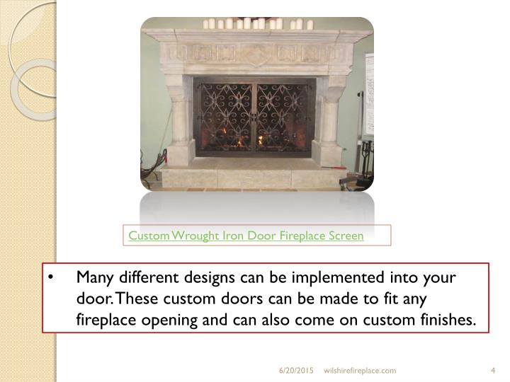 Custom Wrought Iron Door Fireplace Screen