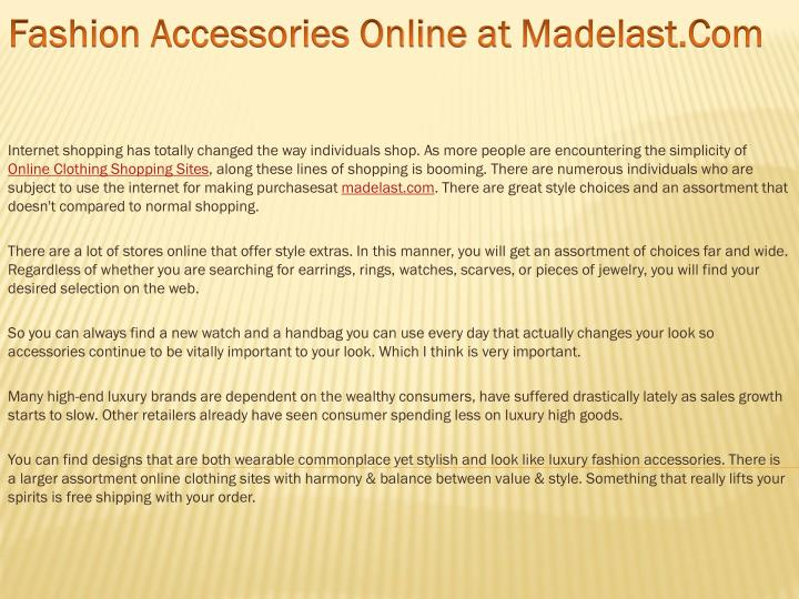 Fashion Accessories Online at
