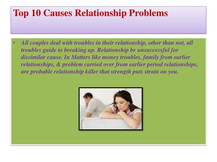 Top 10 Causes Relationship Problems