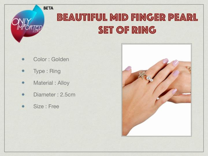 beautiful mid finger pearl