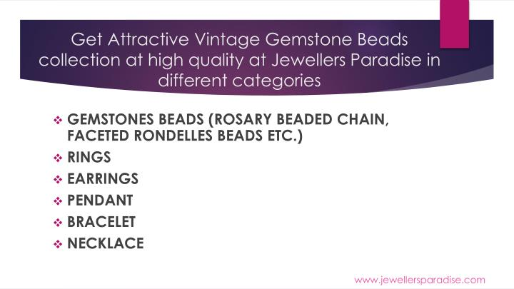 Get Attractive Vintage Gemstone Beads collection at high quality at