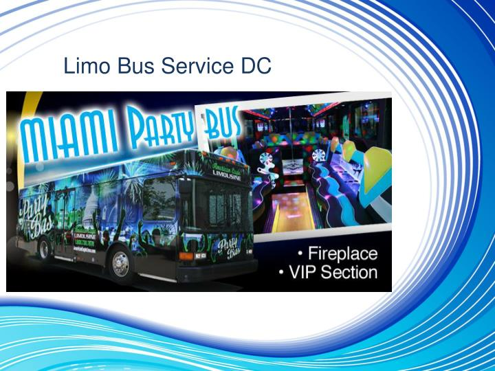 Limo bus service dc