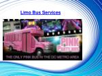 limo bus services