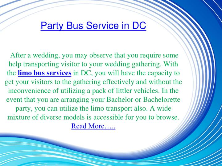Party Bus Service in