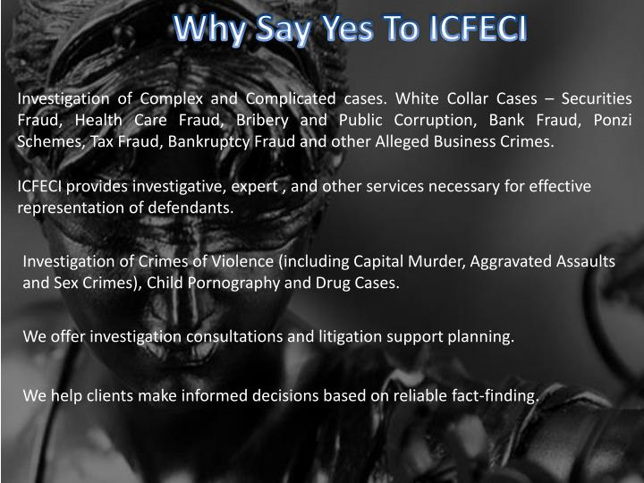 Why Say Yes To ICFECI