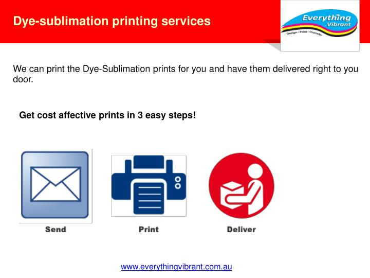 Dye-sublimation printing services