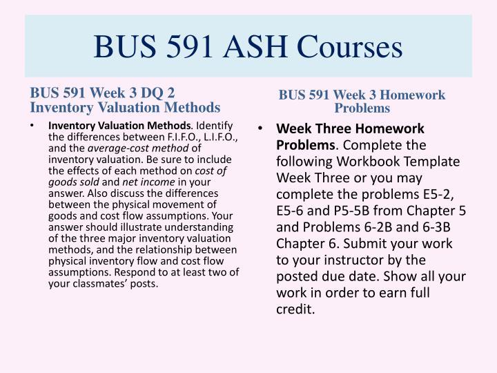 BUS 591 ASH