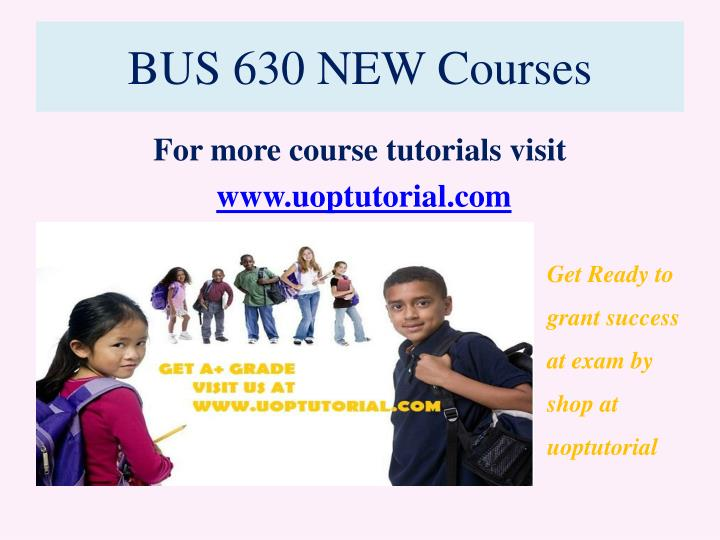 Bus 630 new courses