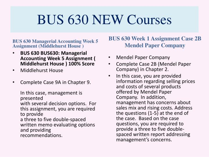 Bus 630 new courses2