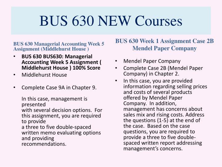 BUS 630 NEW