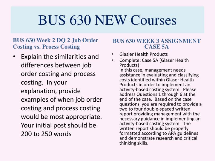 BUS 630 NEW