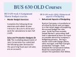 bus 630 old courses6