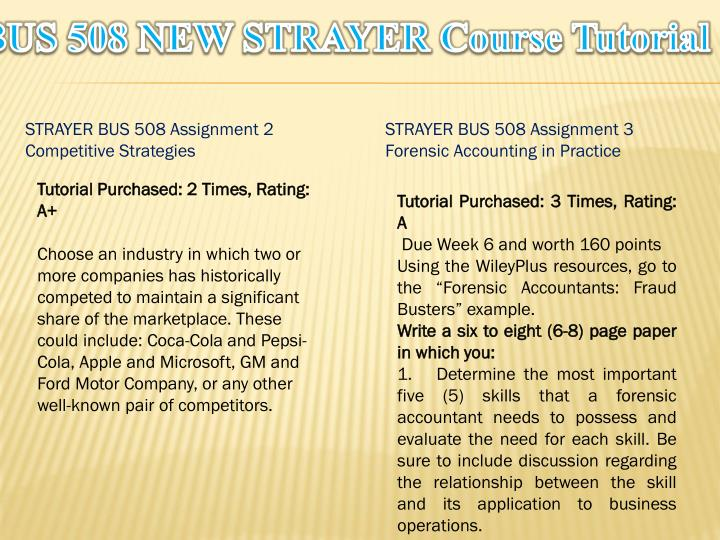 Bus 508 new strayer course tutorial1