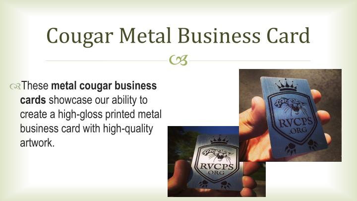 Cougar Metal Business Card