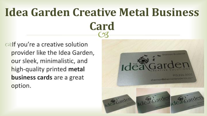 Idea garden creative metal business card