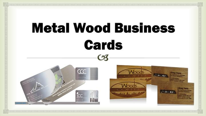 Metal wood b usiness c ards