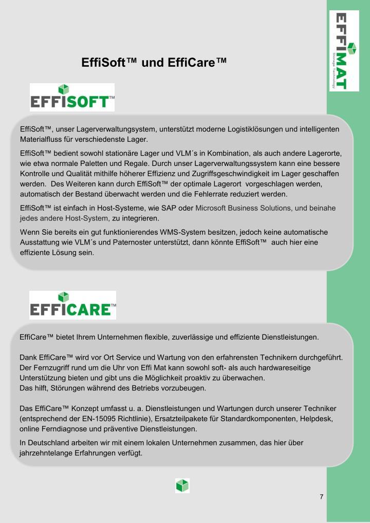 EffiSoft™ und EffiCare™