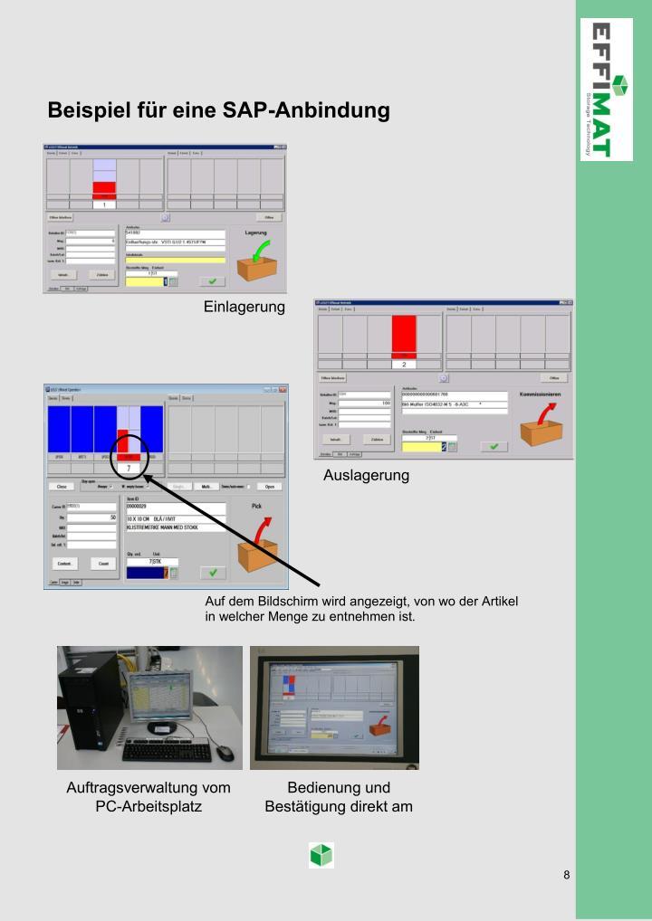 Beispiel für eine SAP