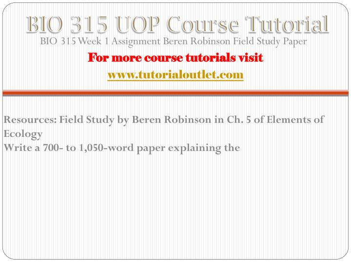 Bio 315 uop course tutorial1