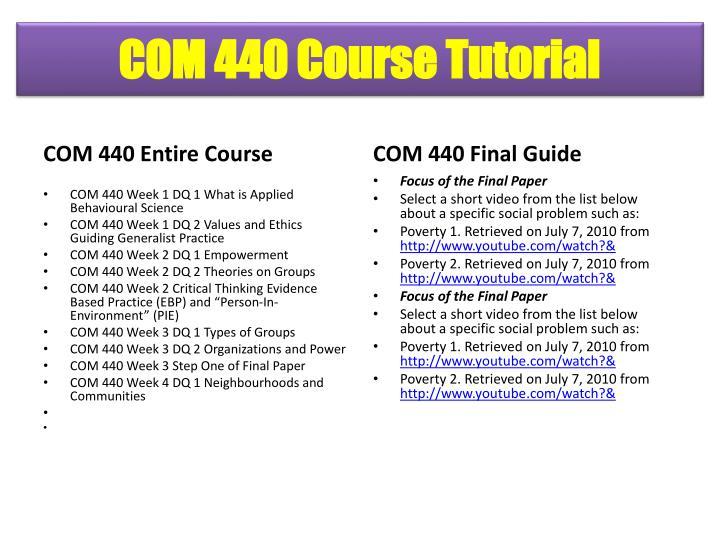 COM 440 Course