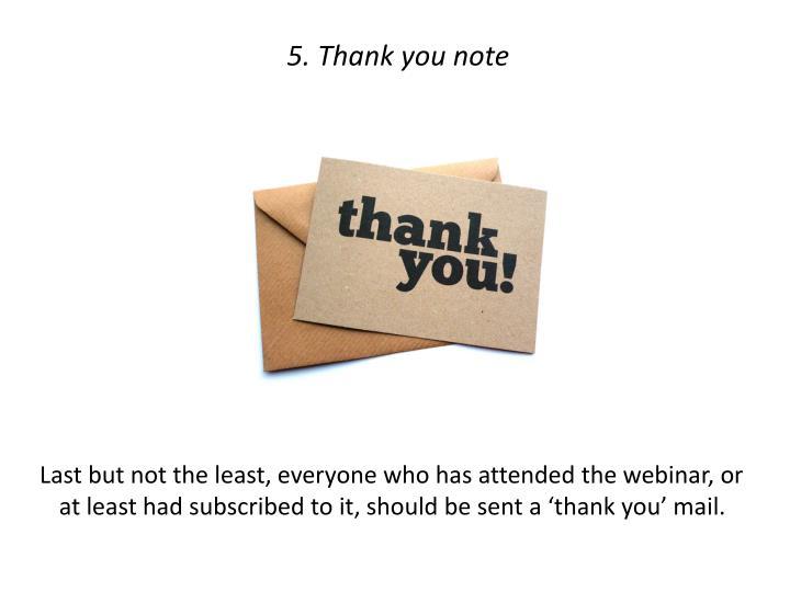 5. Thank