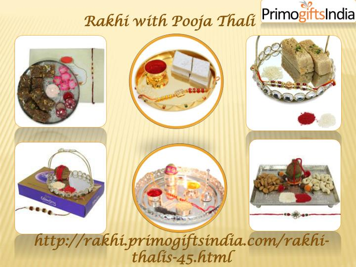 Rakhi with Pooja Thali