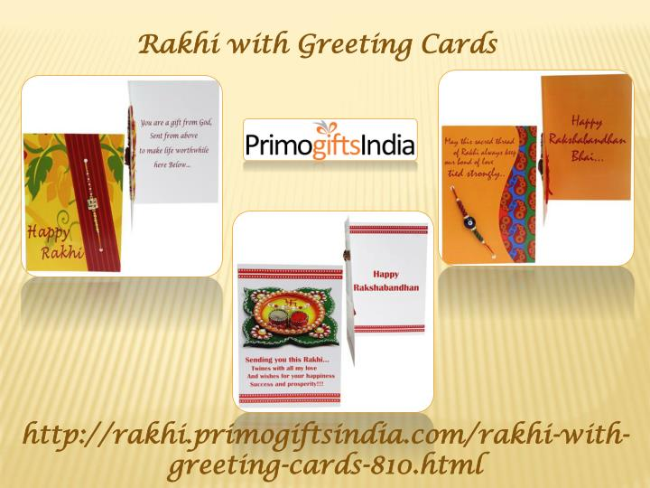 Rakhi with Greeting Cards