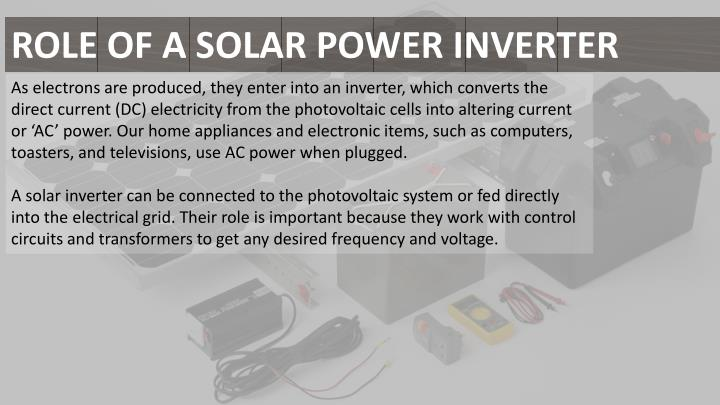 ROLE OF A SOLAR POWER INVERTER