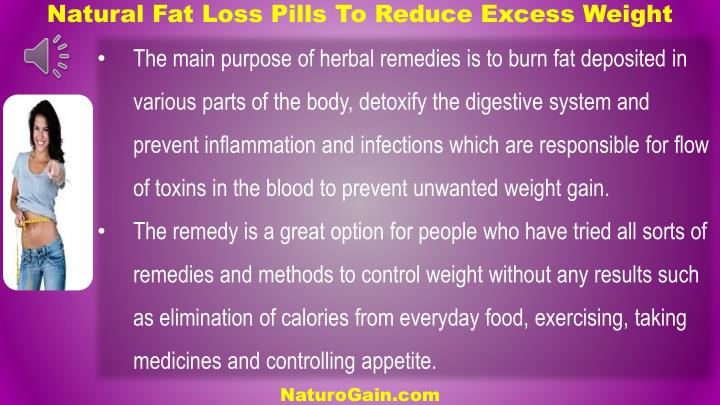 Natural Fat Loss Pills To Reduce Excess Weight