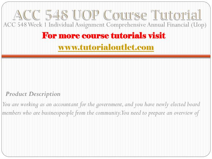 Acc 548 uop course tutorial