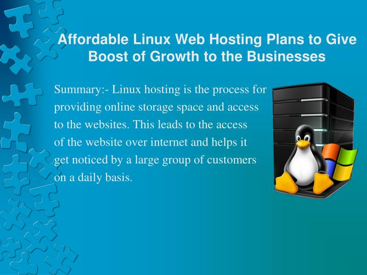 Affordable linux web hosting plans to give boost of growth to the businesses