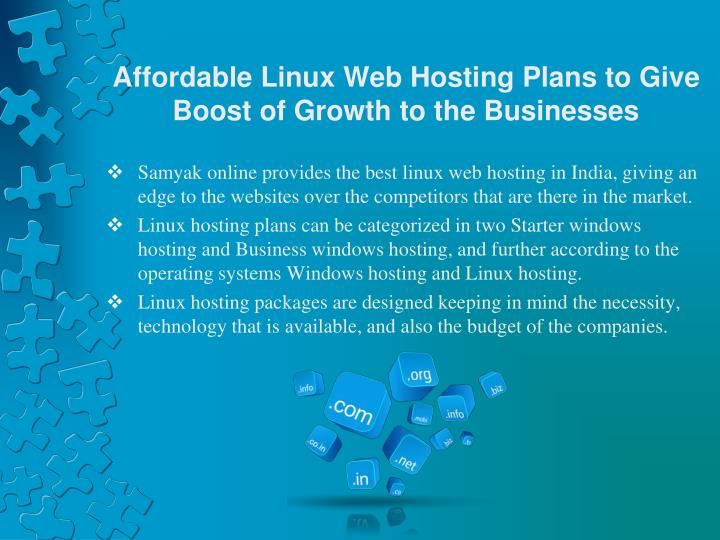Affordable linux web hosting plans to give boost of growth to the businesses1