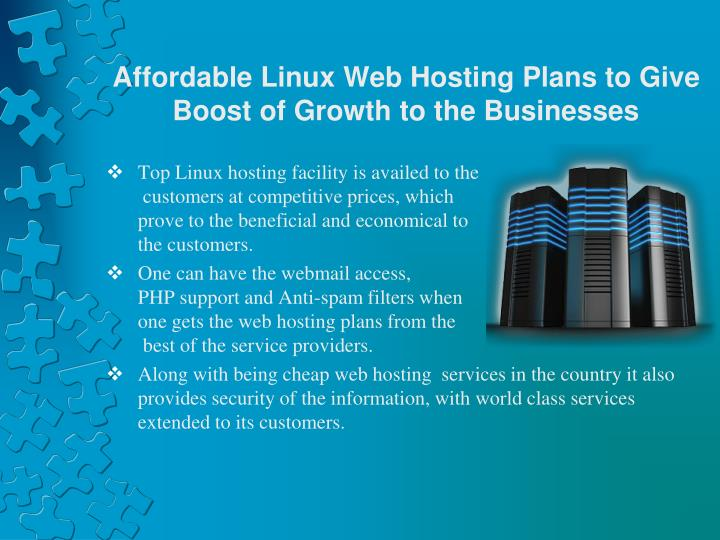 Affordable Linux Web Hosting Plans to Give