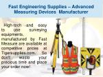 fast engineering supplies advanced measuring devices manufacturer