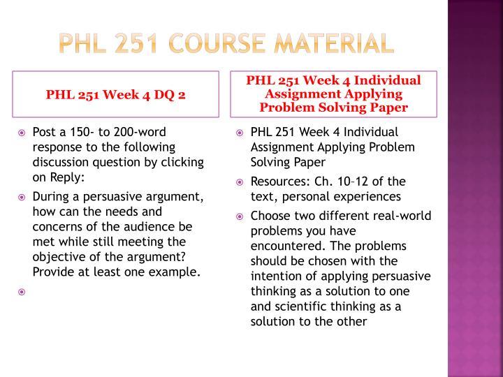 PHL 251 Course