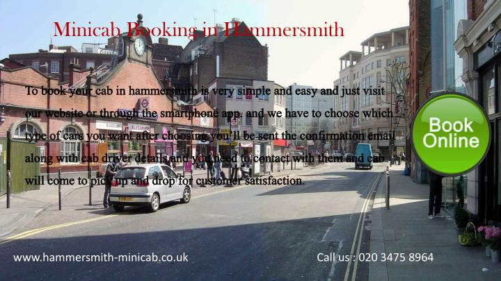 Minicab Booking in Hammersmith